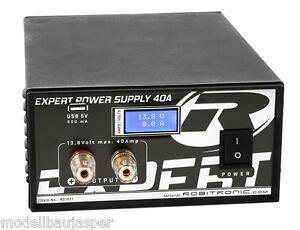 Schaltnetzteil 40A 13,8V LCD USB Robitronic für Ladegeräte R01021 netzteil
