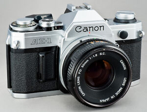 Canon AE-1  35mm Camera with 50mm f/1.8 Lens Kingston Kingston Area image 1