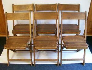 6 Chaises Pliantes Antiques - 6 Antique Folding Wooden Chairs