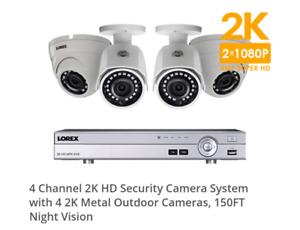2K HD 4 SECURITY CAMERAS