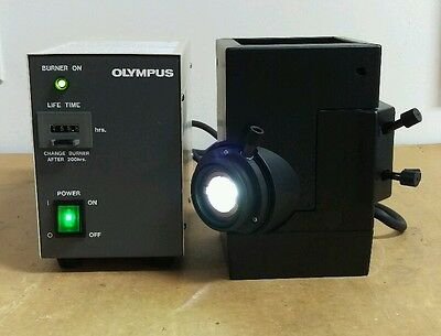 Olympus Microscope Mercury Lamphouse And Power Supply