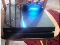 Slim black ps4 500gb + official ps4 controller and wires