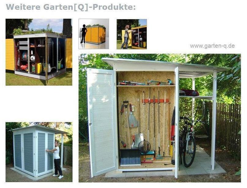 designer gartenhaus gartenschrank ger tehaus modern design. Black Bedroom Furniture Sets. Home Design Ideas