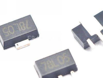 20pcs 78l05 5v Sot89 Regulators Transistor Smd Transistor New