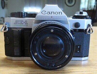 Vintage Canon AE-1 Program 35mm SLR Camera