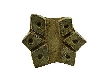 Antique Bunta Stamped Wood Printing Fabric Textile Batik Rajasthan India X32