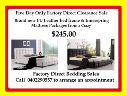 5 DAY SALE SGL,DBL,QUEEN & KING PU LEATHER BED & MATTRESS $245 Broadmeadows Hume Area Preview