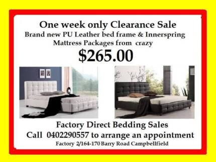 FACTORY DIRECT CLEARANCE ON BED & MATTRESS PACKAGES FROM $265.00 Broadmeadows Hume Area Preview