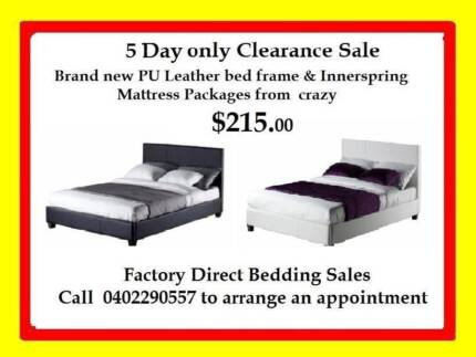5 DAY SALE SGL,DBL,QUEEN & KING PU LEATHER BED & MATTRESS $215 Broadmeadows Hume Area Preview