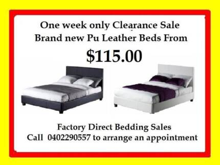 FACTORY DIRECT PU LEATHER BEDS SINGLE K/SINGLE FROM $115.00 Broadmeadows Hume Area Preview