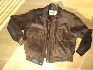 Di Stefano Mens Small Top Grain  Leather Coat - Great Condition