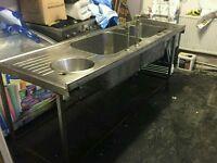 Commercial triple sink