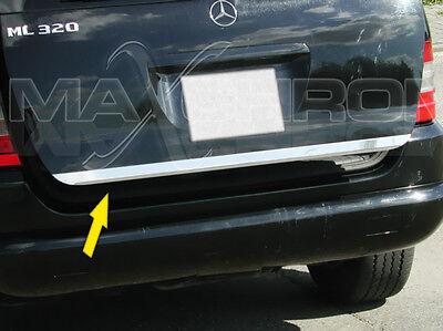 Mercedes ML W163 Chrom Kofferraum Heckleiste Zierleiste Passgenau Bj 1997-2005