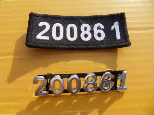 China Police Chest ID Number Sign Plate,Pair,99