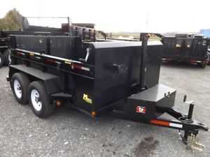 3.5 Ton Miska Dump Trailers – Canadian Made
