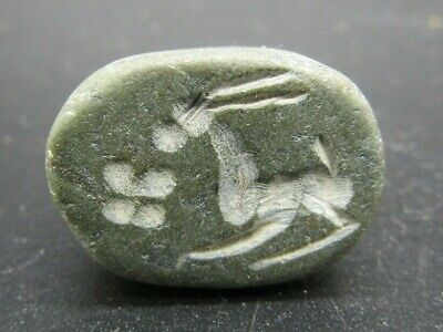 Sassanian empire style black hardstone seal with horse impression