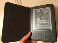 Kindle Keyboard (WiFi+3G) + Leather cover