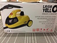 LITTLE YELLO STEAM CLEANER, IMMACULATE CONDITION, COMPLETE WITH ALL ACCESSORIES & BOXED