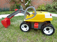 Lena 02062 Strong Big Digger in White/Yellow, 80 cm As NEW!