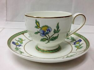villeroy boch columbia teacup saucer bone china heinrich new germany. Black Bedroom Furniture Sets. Home Design Ideas