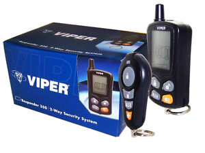 viper 350 2 way responder car alarm with keyless entry security system 3305v ebay. Black Bedroom Furniture Sets. Home Design Ideas