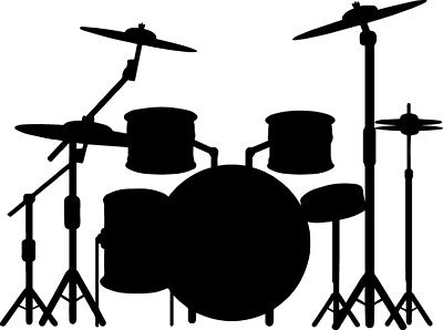 Drum Set Decal For Drummer Band Music Window Bumper Sticker Car Decor](Musical Decor)