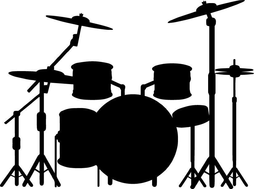 Drum Set Decal For Drummer Band Music Window Bumper Sticker