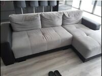 (Free local delivery) Grey & Black Corner Sofa Bed