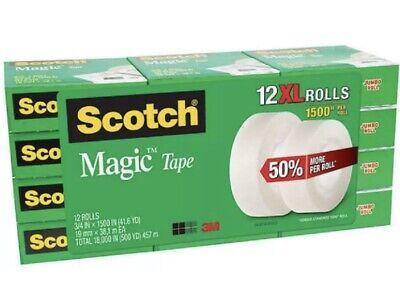 Scotch Magic Tape Refill 12 Rolls 34 X 1500 Per Roll Original Matte Finish