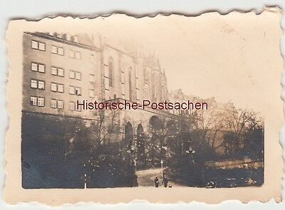 (F13531) Orig. Mini-Foto Altenburg Thür., Blick z. Schloss 1940er
