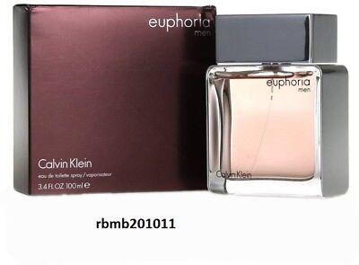 Calvin Klein Euphoria Perfume for Men * 3.4 oz 100 ML Eau De Toilette New (Calvin Klein Euphoria For Men Eau De Toilette)