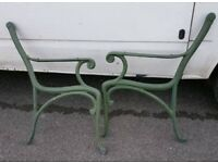 Retro Vintage Cast Iron / Metal Bench Ends - Garden Bench