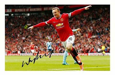 276ba2b50a0 WAYNE ROONEY - MANCHESTER UNITED AUTOGRAPHED SIGNED A4 PP POSTER PHOTO