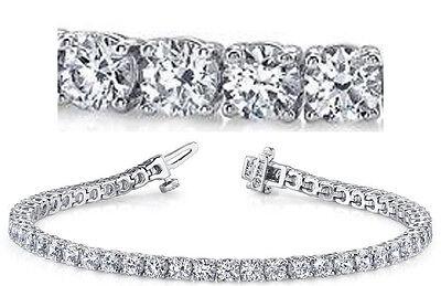 20.5 ct Round Diamond Tennis Bracelet 18k white Gold GIA G SI1 27 x 0.74-0.77 ct