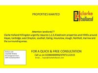 ATTENTION LANDLORDS ALL 1 2 3 4 BEDROOM PROPERTY WANTED