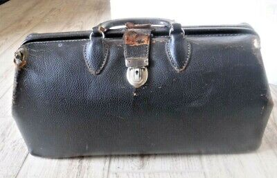 1920s Handbags, Purses, and Shopping Bag Styles Vintage Kruse Top Grain Cow Hide Doctors Bag 1920's-30's $49.99 AT vintagedancer.com
