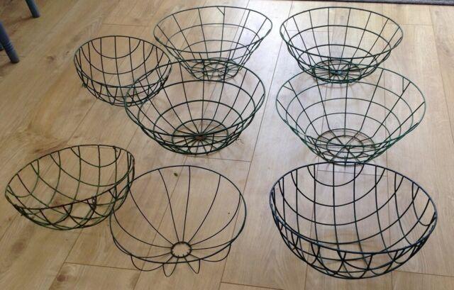 9 Wire Hanging Baskets 8 Wire 1 Wicker Round Garden Flower Display In Whitchurch Cardiff Gumtree