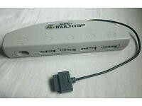 Super Multitap for SNES by Hudsonsoft. Vintage Nintendo 4 port controller addon