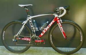 Look 695 Carbon Road bike with Sram eTap and carbon wheels.  Medi