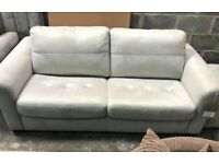 Suede 3 + 2 seater sofa bed, Armchair, Storage Footstool
