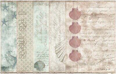 Paper Pack-Decoupage-Bastelpapier-Softpapier-maritim-Meer-Muschel-Strand-18006 - Strand Paper Pack