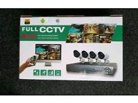Brand new 4 CHANNEL CCTV kit 1 TB hard drive. 1080p AHD. MOBILE VIEWING. P2P cloud