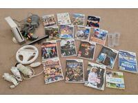 Nintendo Wii Bundle! Console + nunchucks + 17 games!