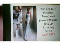 Ivory lace dress size 8