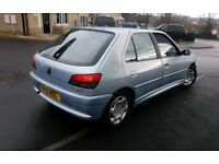 PEUGEOT 306 LX DIESEL 10MONTHS MOT VERY ECONOMICAL S/H DRIVES GOOD ALL PAPERWORK PRESENT