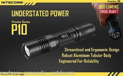 NITECORE P20UV CREE LED 800 Lumen UV Flashlight StrobeReady™ NL189 18650 battery