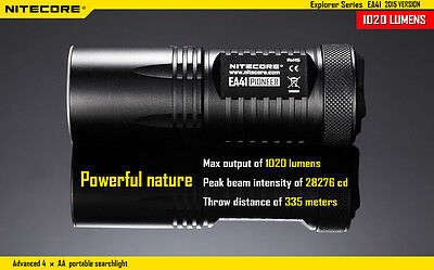 BRAND NEW 2015 NITECORE EA41 1020 Lumen Flashlight[EA4 upgraded version]