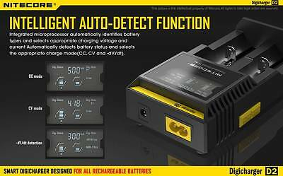 NITECORE D2 LCD-Panel Intelligent Charger für 18650 Akku e Zigarette