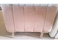 Single bed headboard - beige suede