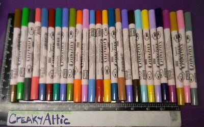 MARKERS CALLIGRAPHY 27 COLORS PIGMENTED RETIRED CHISEL DUAL TIP MARVY UCHIDA 993